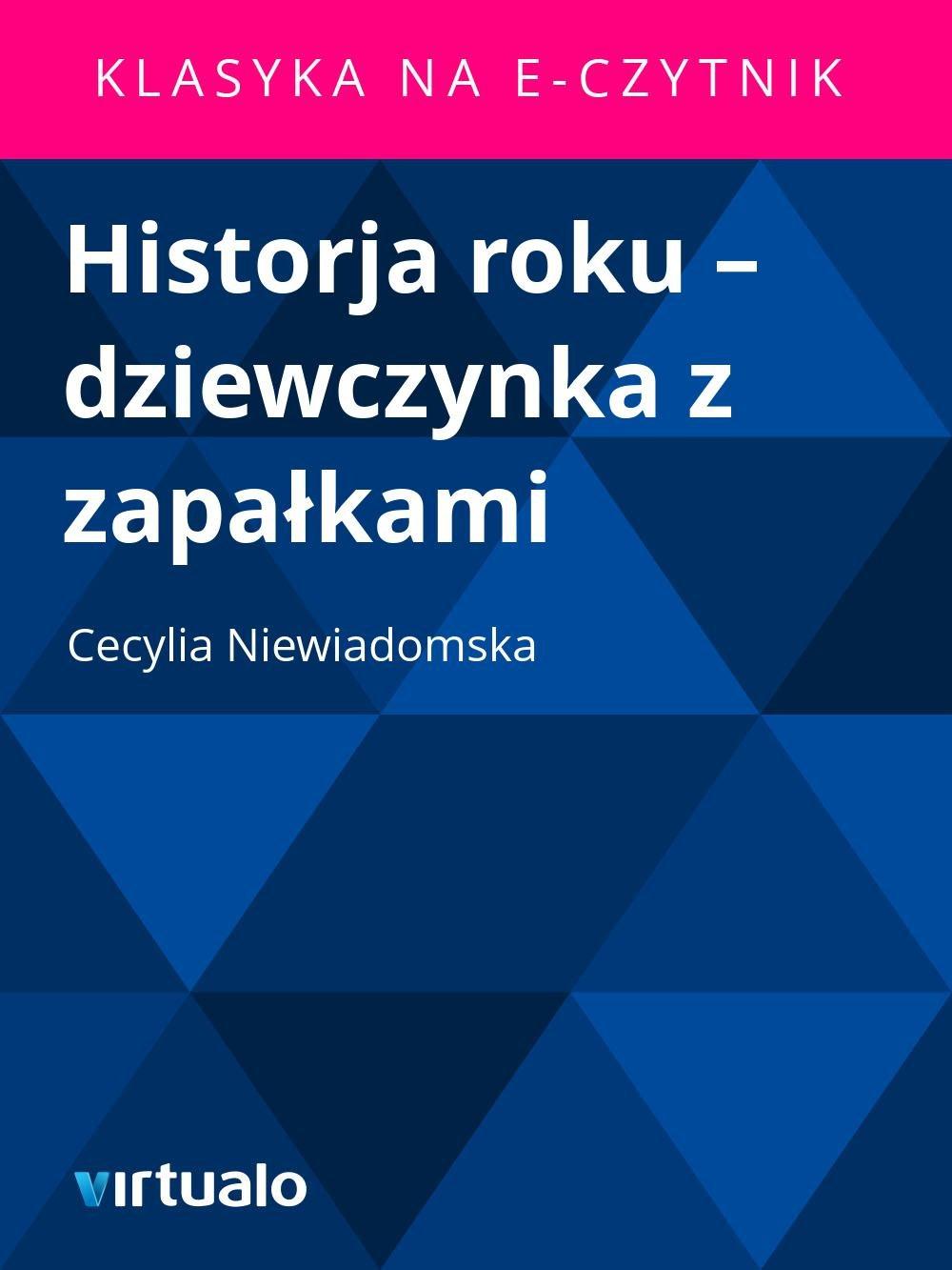 Historja roku – dziewczynka z zapałkami - Ebook (Książka EPUB) do pobrania w formacie EPUB