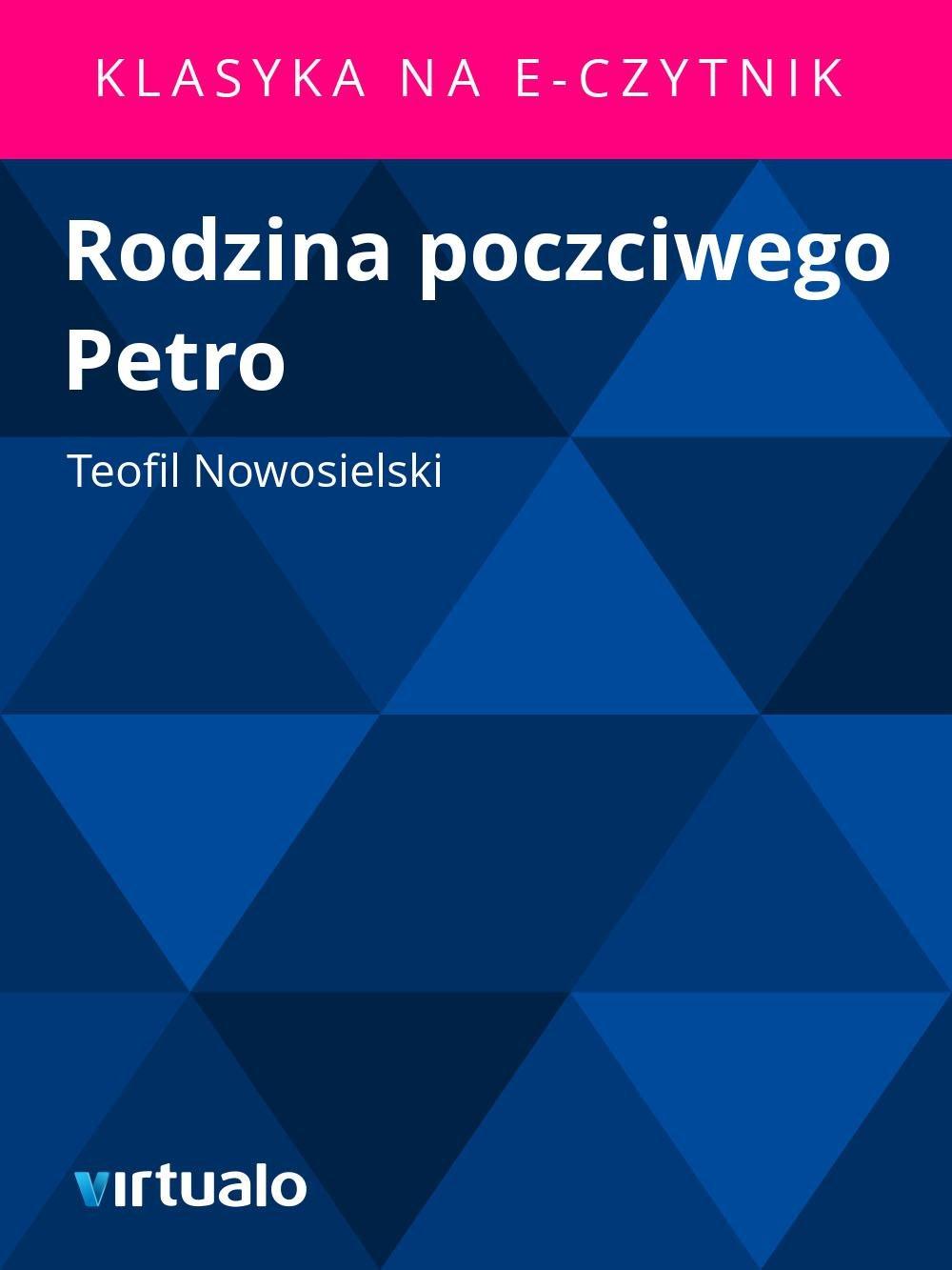 Rodzina poczciwego Petro - Ebook (Książka EPUB) do pobrania w formacie EPUB