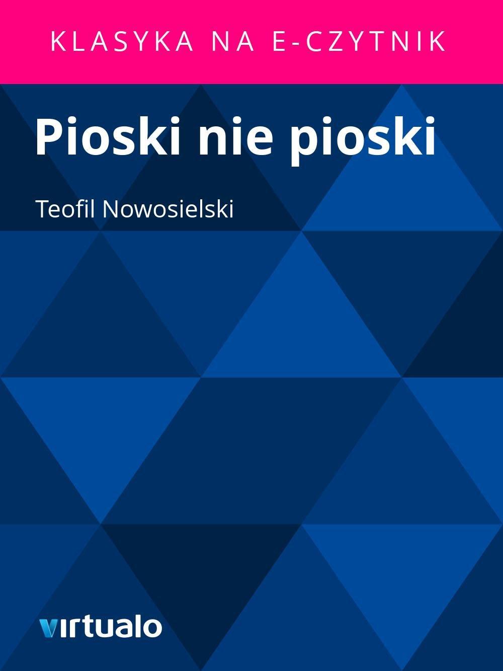 Pioski nie pioski - Ebook (Książka EPUB) do pobrania w formacie EPUB
