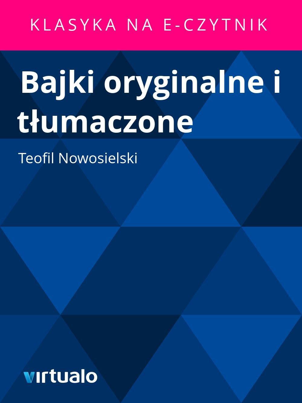Bajki oryginalne i tłumaczone - Ebook (Książka EPUB) do pobrania w formacie EPUB