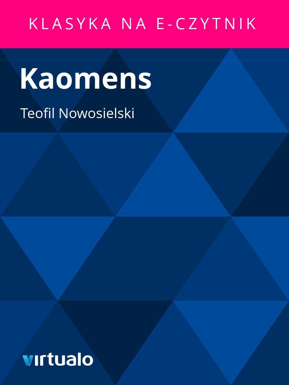 Kaomens - Ebook (Książka EPUB) do pobrania w formacie EPUB