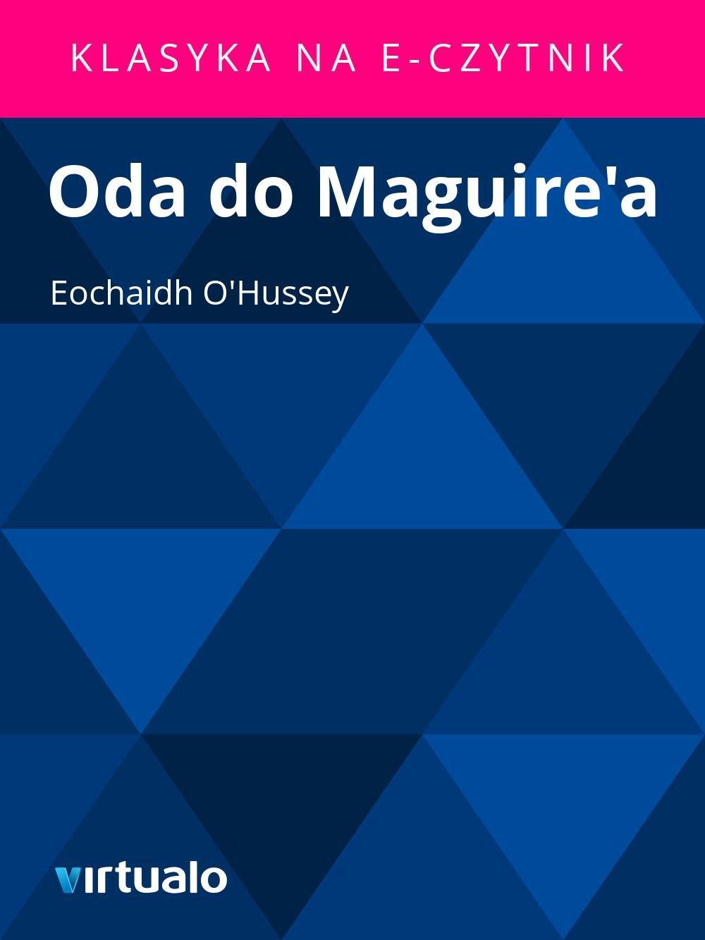 Oda do Maguire'a - Ebook (Książka EPUB) do pobrania w formacie EPUB