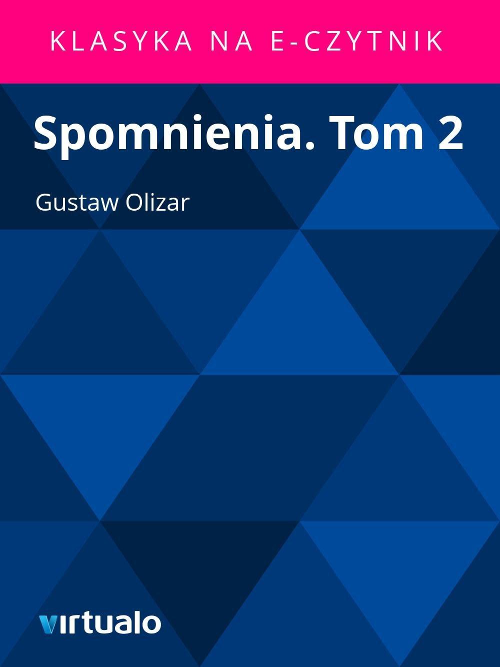 Spomnienia. Tom 2 - Ebook (Książka EPUB) do pobrania w formacie EPUB