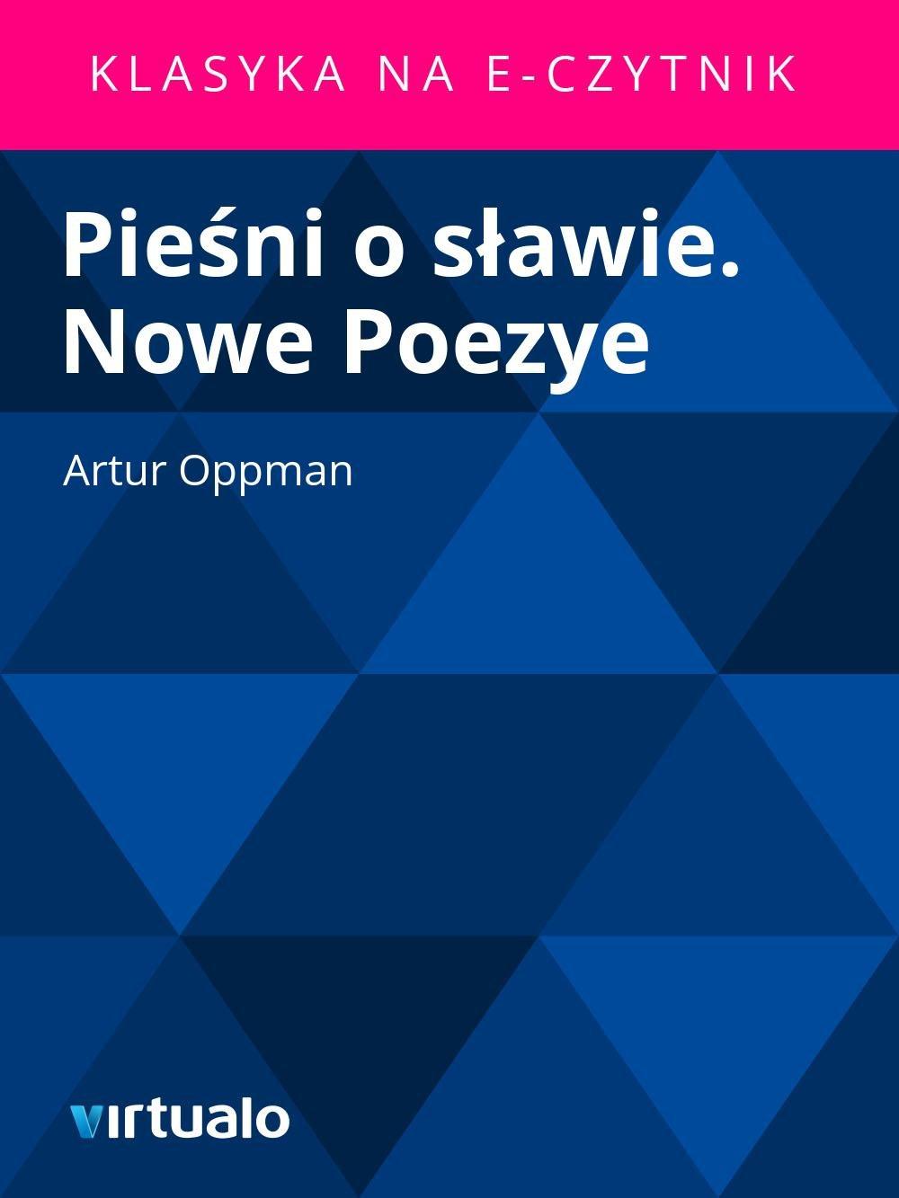 Pieśni o sławie. Nowe Poezye - Ebook (Książka EPUB) do pobrania w formacie EPUB
