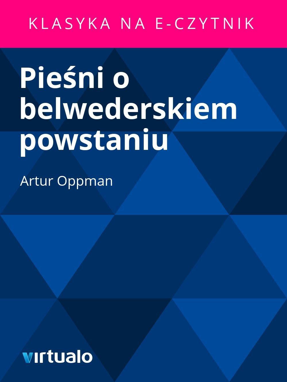 Pieśni o belwederskiem powstaniu - Ebook (Książka EPUB) do pobrania w formacie EPUB