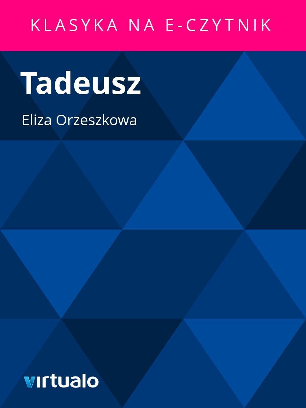 Tadeusz - Ebook (Książka EPUB) do pobrania w formacie EPUB