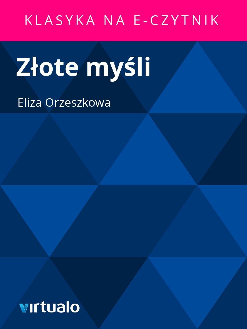 Złote myśli - Ebook (Książka EPUB) do pobrania w formacie EPUB