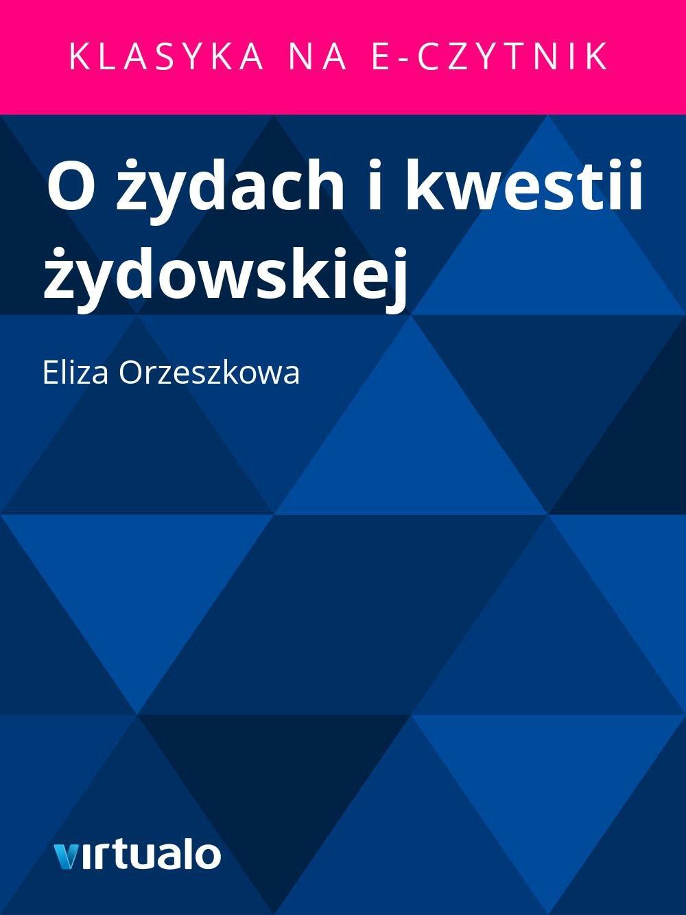 O żydach i kwestii żydowskiej - Ebook (Książka EPUB) do pobrania w formacie EPUB