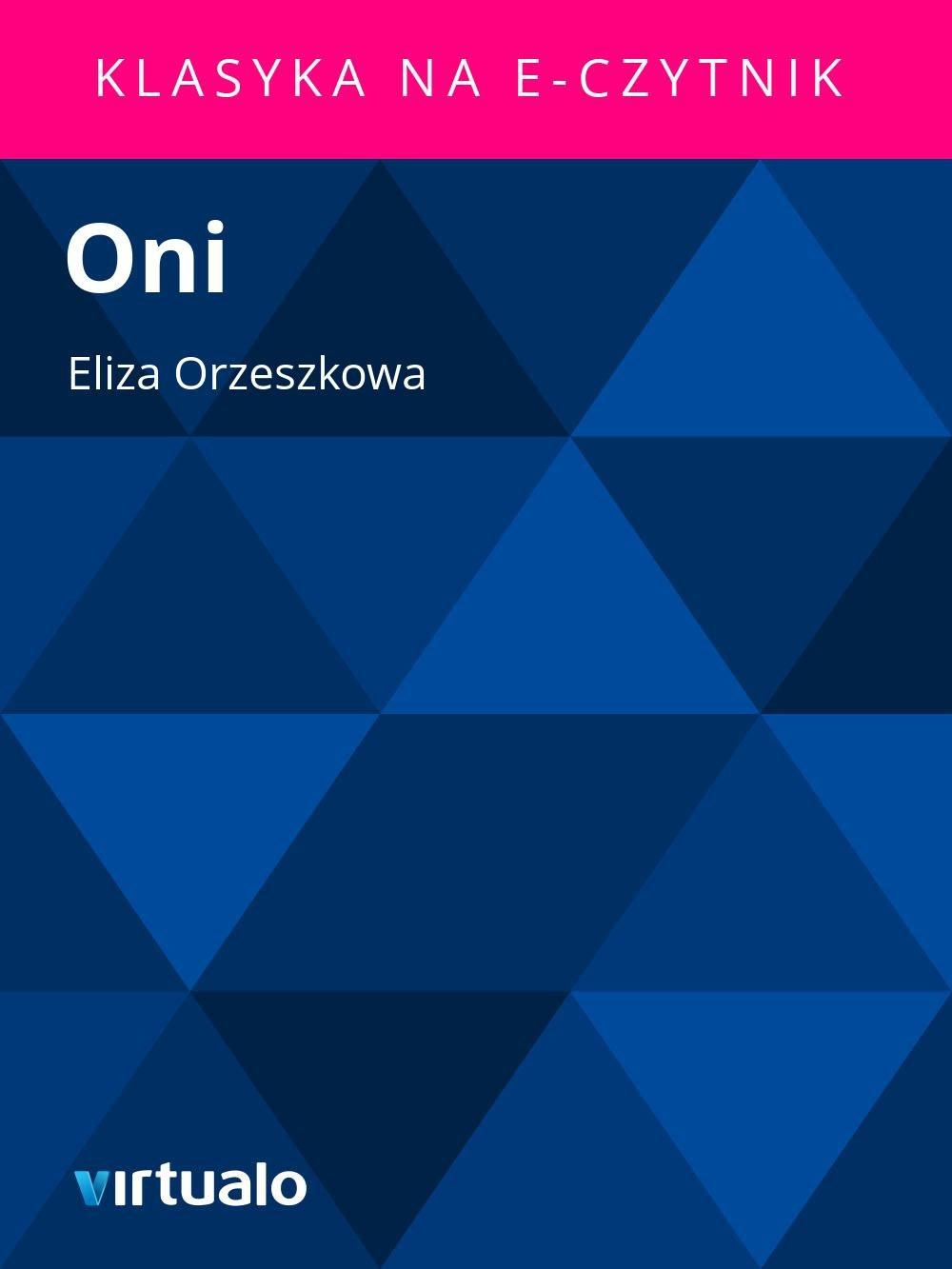 Oni - Ebook (Książka EPUB) do pobrania w formacie EPUB