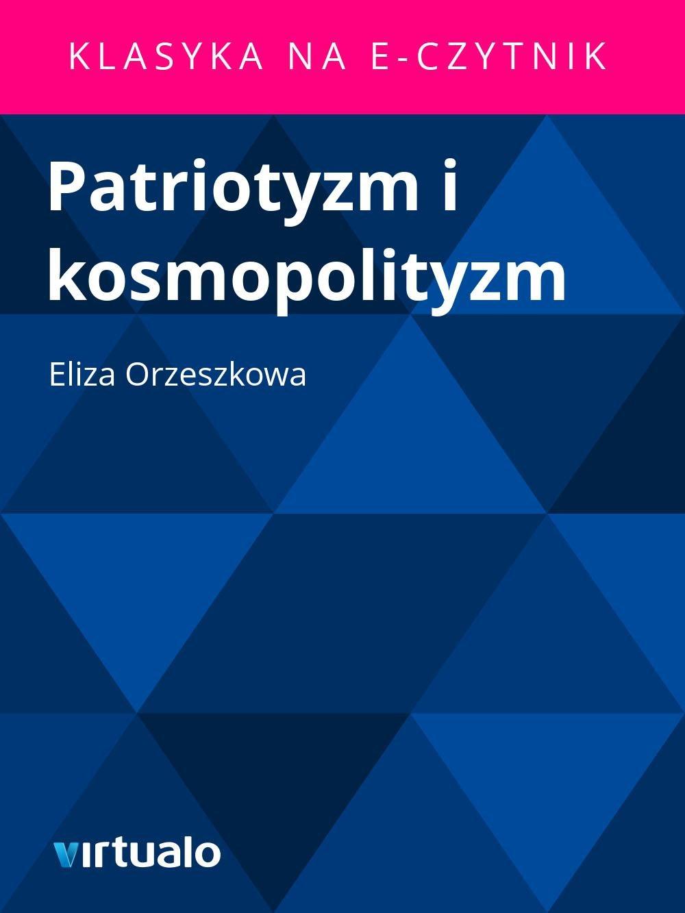 Patriotyzm i kosmopolityzm - Ebook (Książka EPUB) do pobrania w formacie EPUB