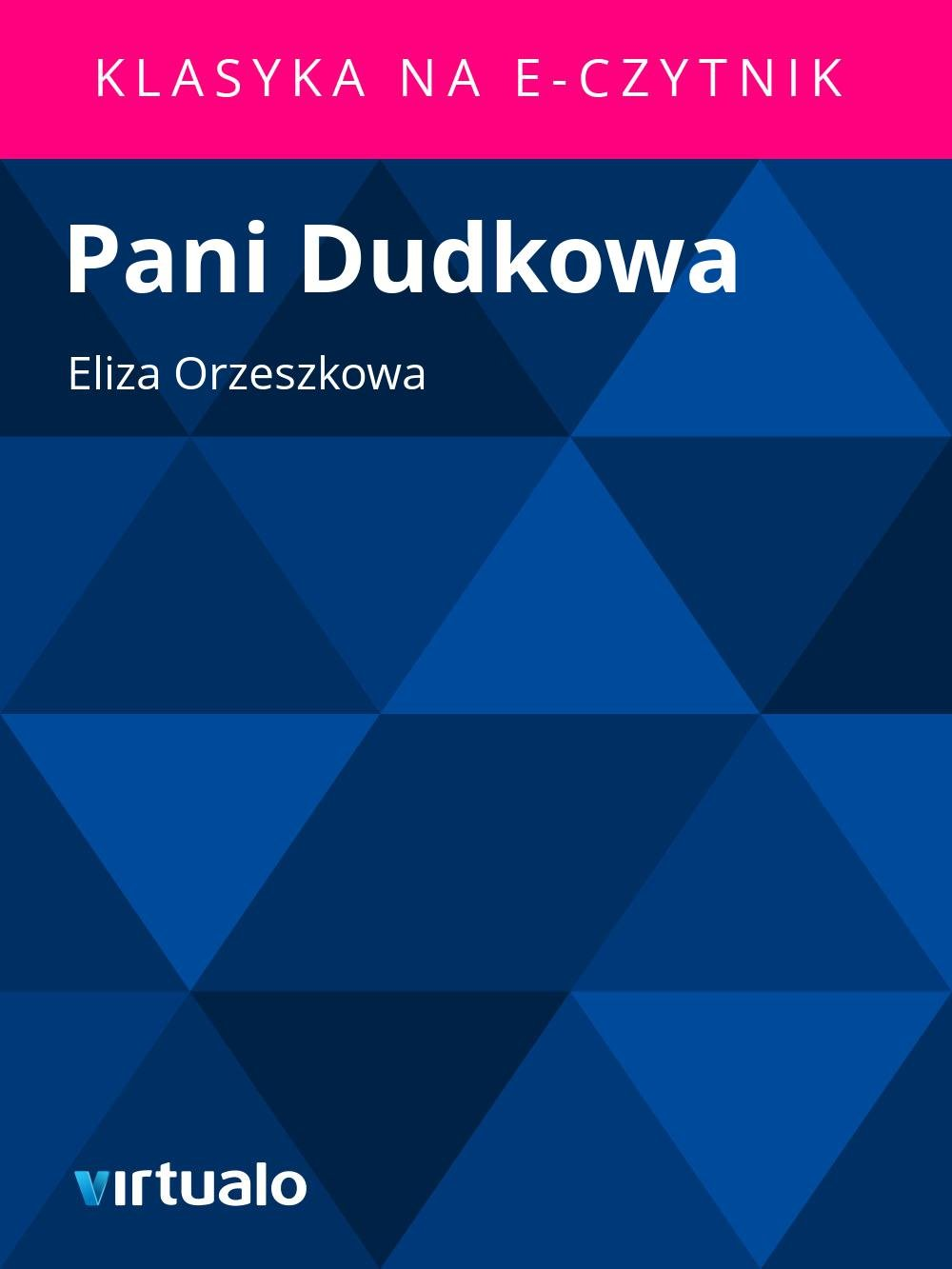 Pani Dudkowa - Ebook (Książka EPUB) do pobrania w formacie EPUB
