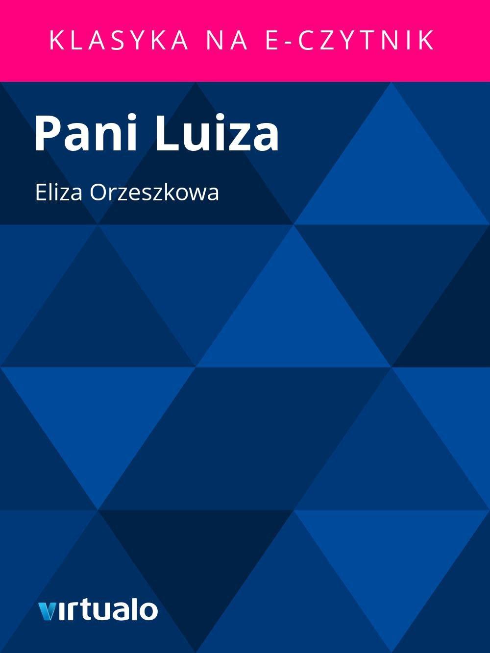 Pani Luiza - Ebook (Książka EPUB) do pobrania w formacie EPUB