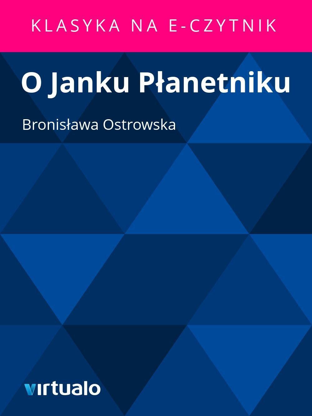 O Janku Płanetniku - Ebook (Książka EPUB) do pobrania w formacie EPUB