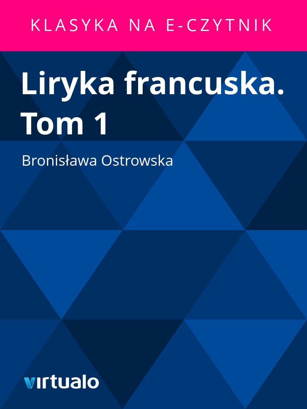 Liryka francuska. Tom 1 - Ebook (Książka EPUB) do pobrania w formacie EPUB