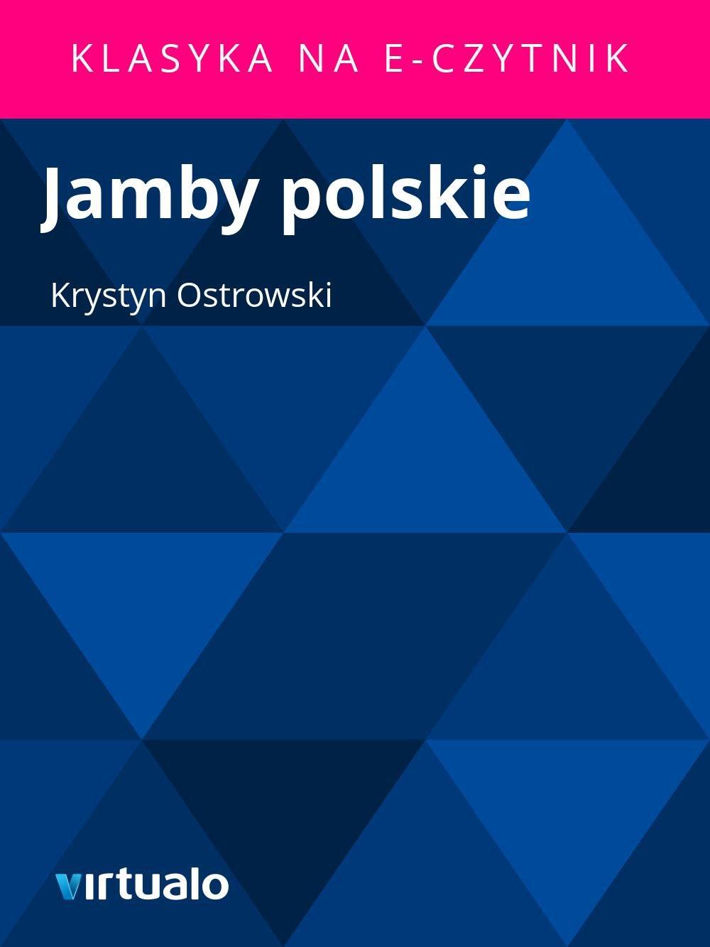 Jamby polskie - Ebook (Książka EPUB) do pobrania w formacie EPUB