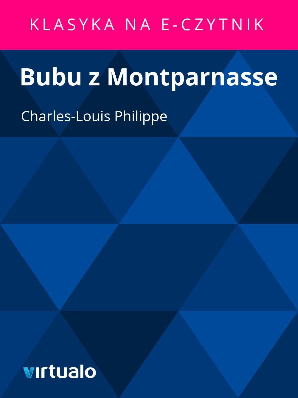 Bubu z Montparnasse - Ebook (Książka EPUB) do pobrania w formacie EPUB