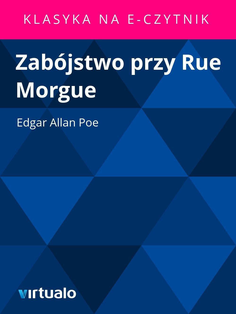 Zabójstwo przy Rue Morgue - Ebook (Książka EPUB) do pobrania w formacie EPUB