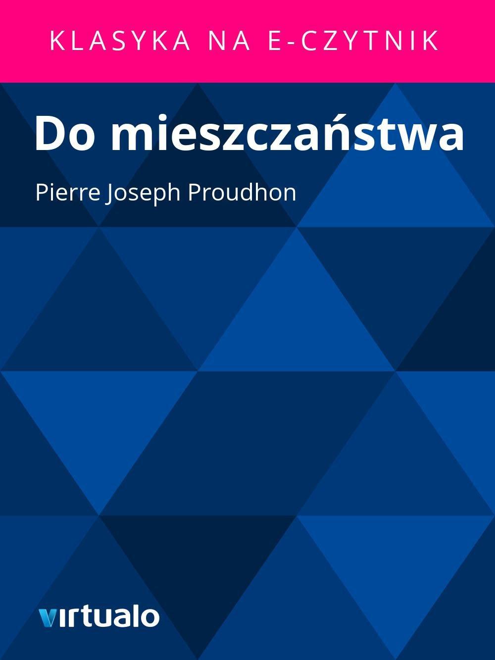 Do mieszczaństwa - Ebook (Książka EPUB) do pobrania w formacie EPUB