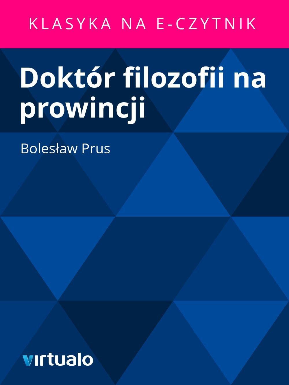 Doktór filozofii na prowincji - Ebook (Książka EPUB) do pobrania w formacie EPUB