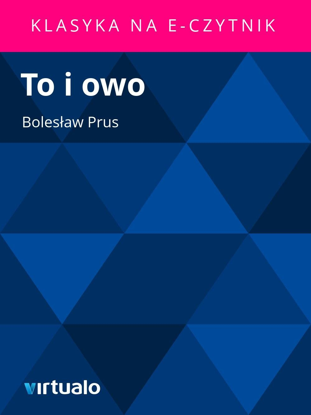 To i owo - Ebook (Książka EPUB) do pobrania w formacie EPUB