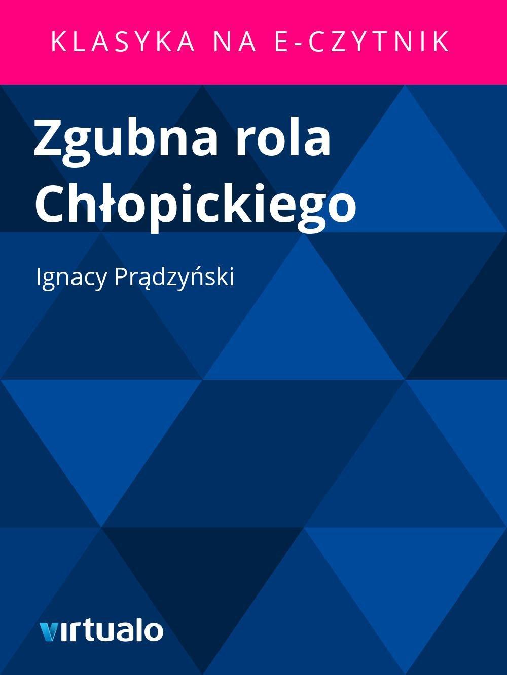 Zgubna rola Chłopickiego - Ebook (Książka EPUB) do pobrania w formacie EPUB