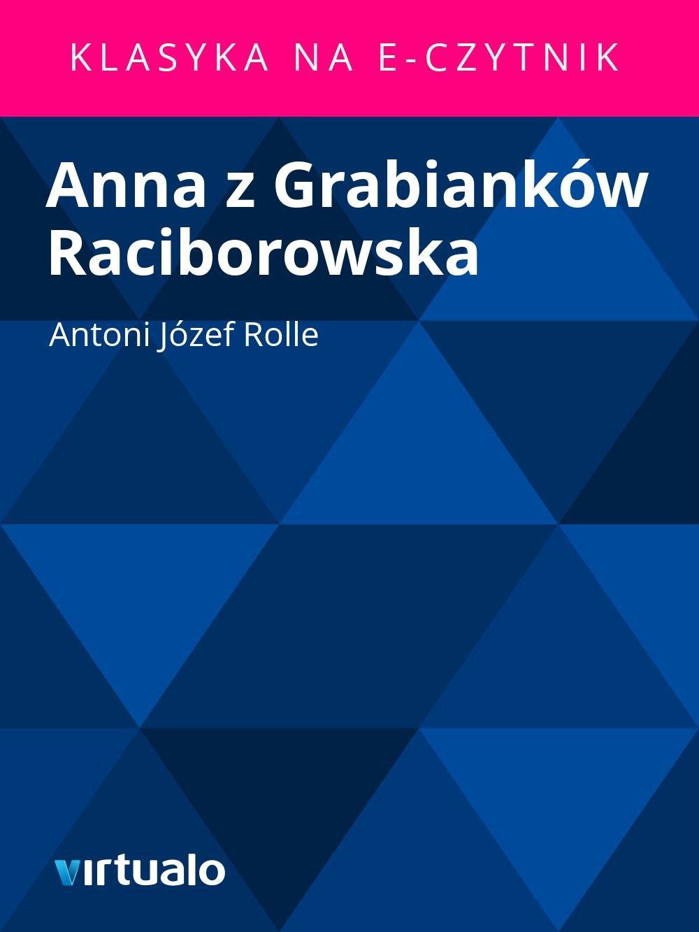 Anna z Grabianków Raciborowska - Ebook (Książka EPUB) do pobrania w formacie EPUB