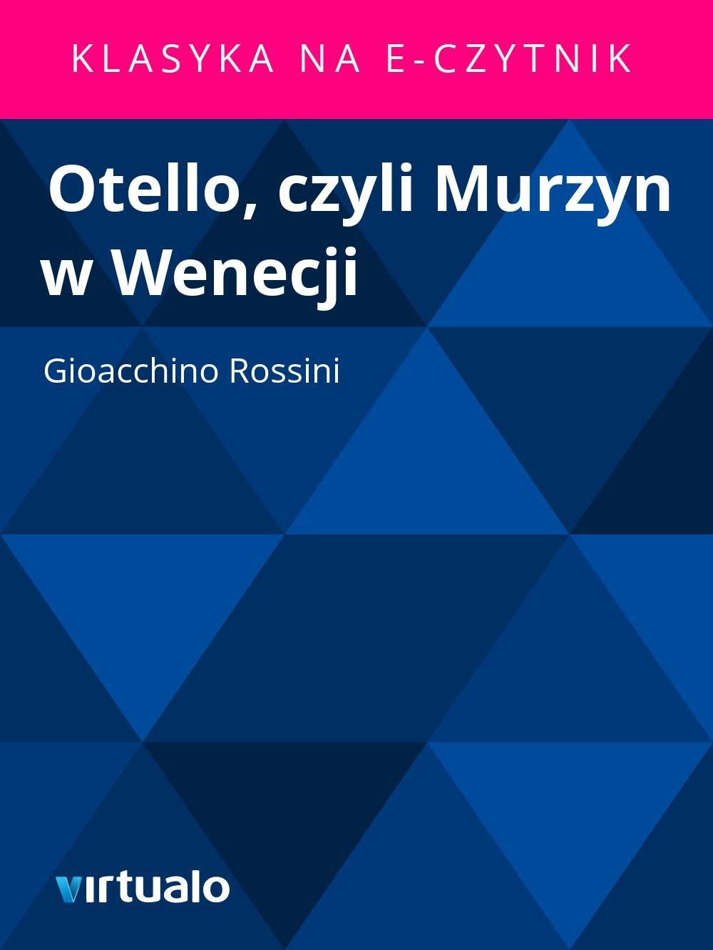 Otello, czyli Murzyn w Wenecji - Ebook (Książka EPUB) do pobrania w formacie EPUB