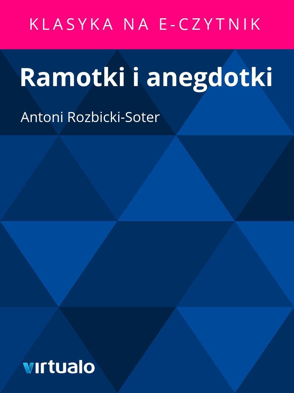 Ramotki i anegdotki - Ebook (Książka EPUB) do pobrania w formacie EPUB