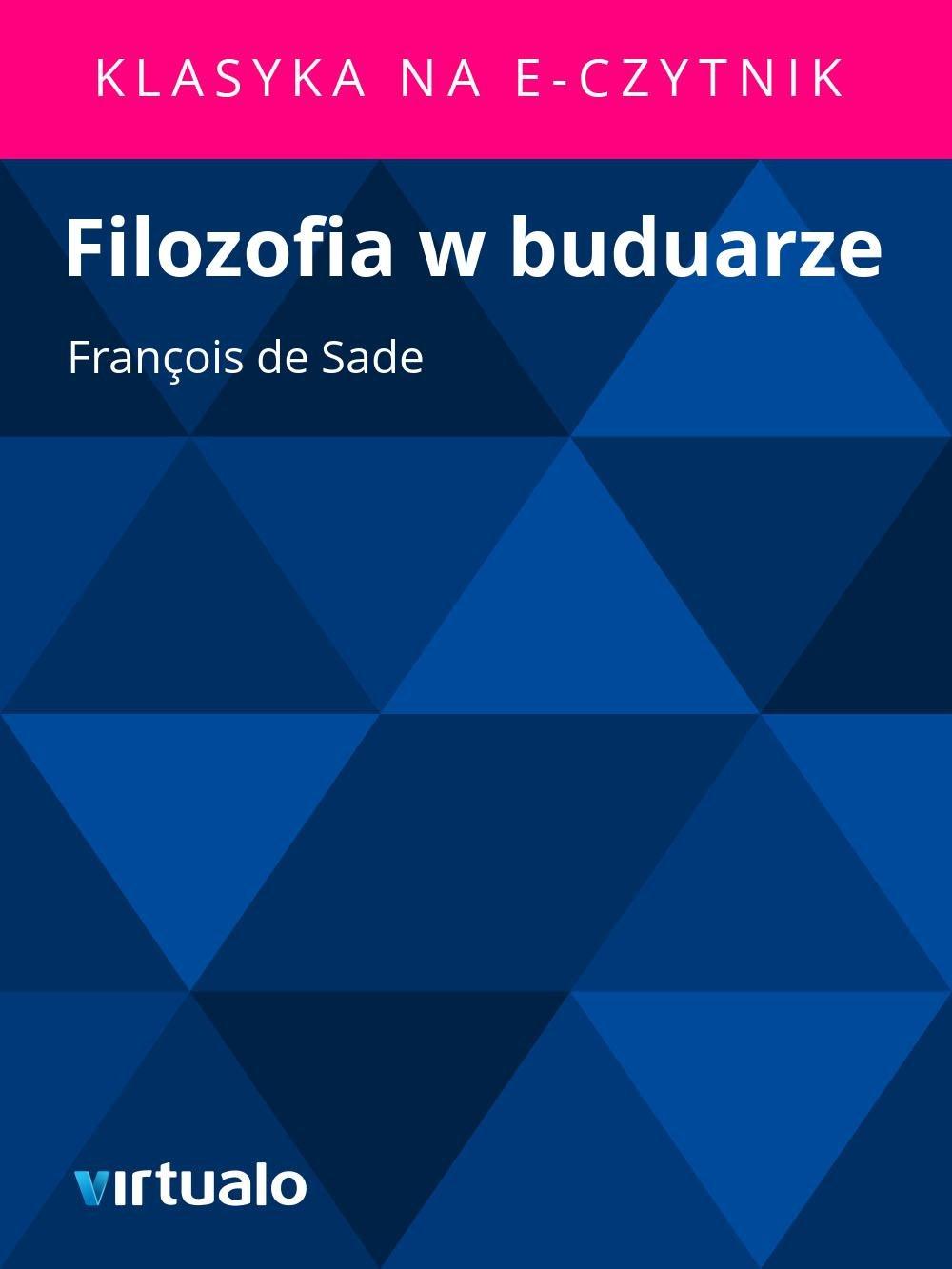 Filozofia w buduarze - Ebook (Książka EPUB) do pobrania w formacie EPUB