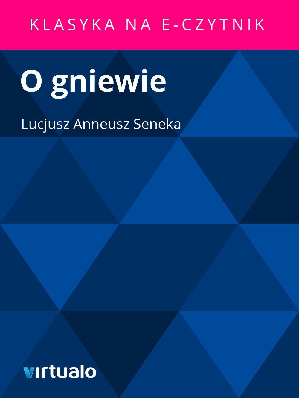 O gniewie - Ebook (Książka EPUB) do pobrania w formacie EPUB