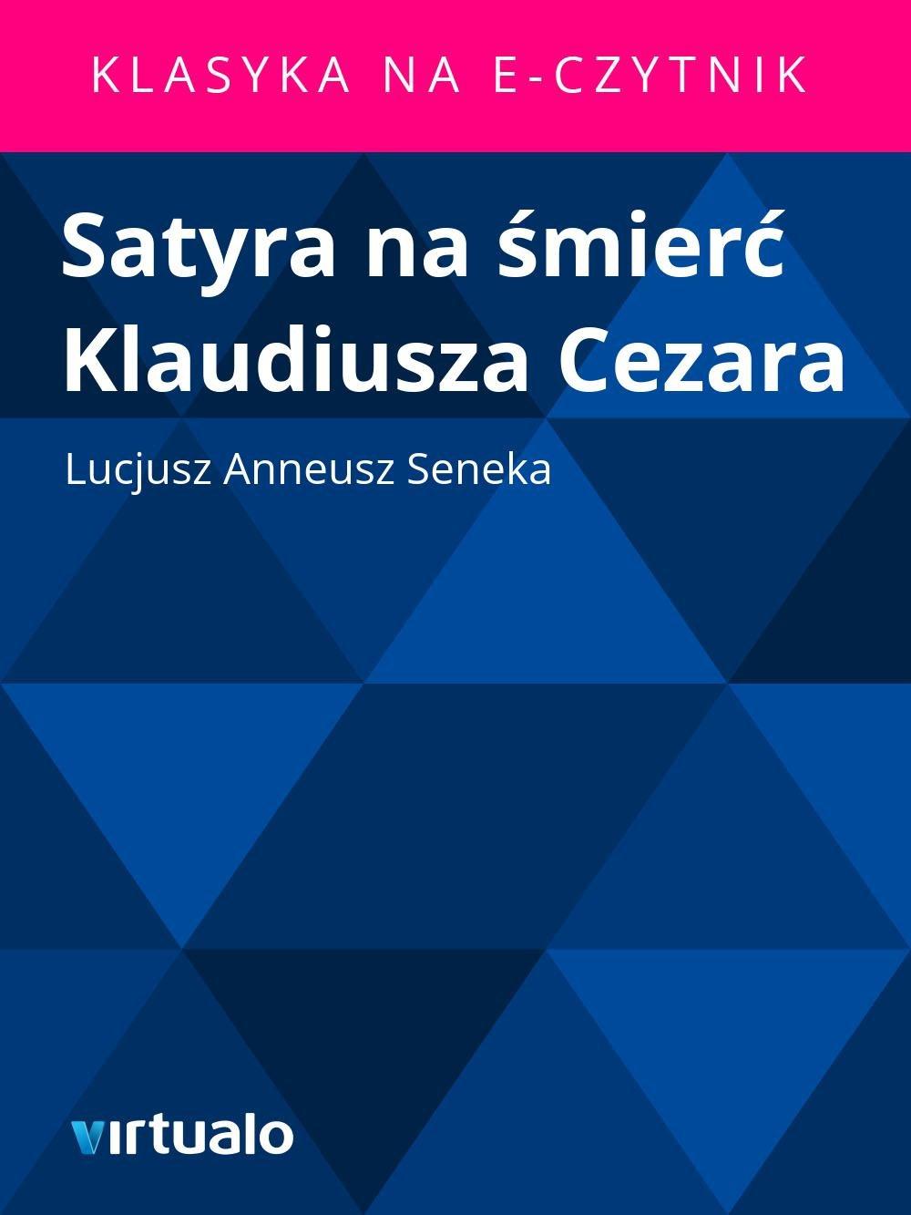 Satyra na śmierć Klaudiusza Cezara - Ebook (Książka EPUB) do pobrania w formacie EPUB