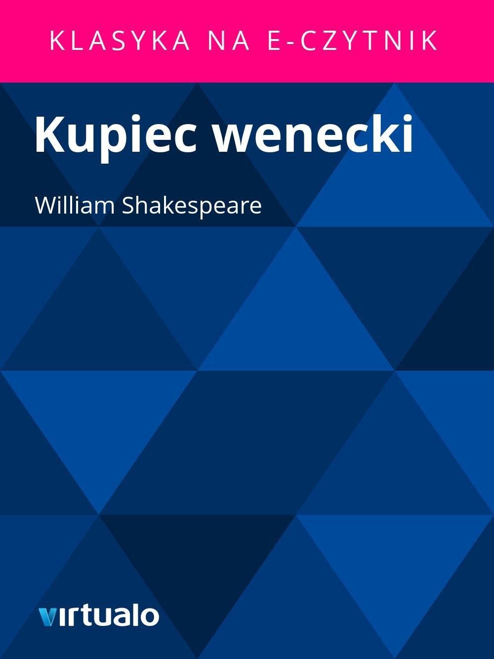 Kupiec wenecki - Ebook (Książka EPUB) do pobrania w formacie EPUB