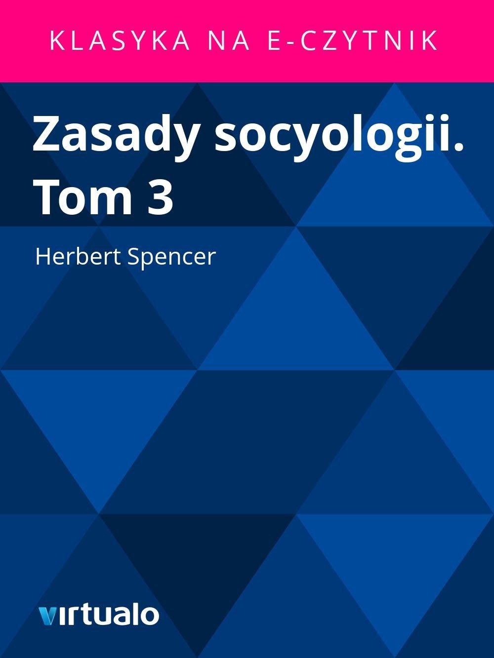 Zasady socyologii. Tom 3 - Ebook (Książka EPUB) do pobrania w formacie EPUB