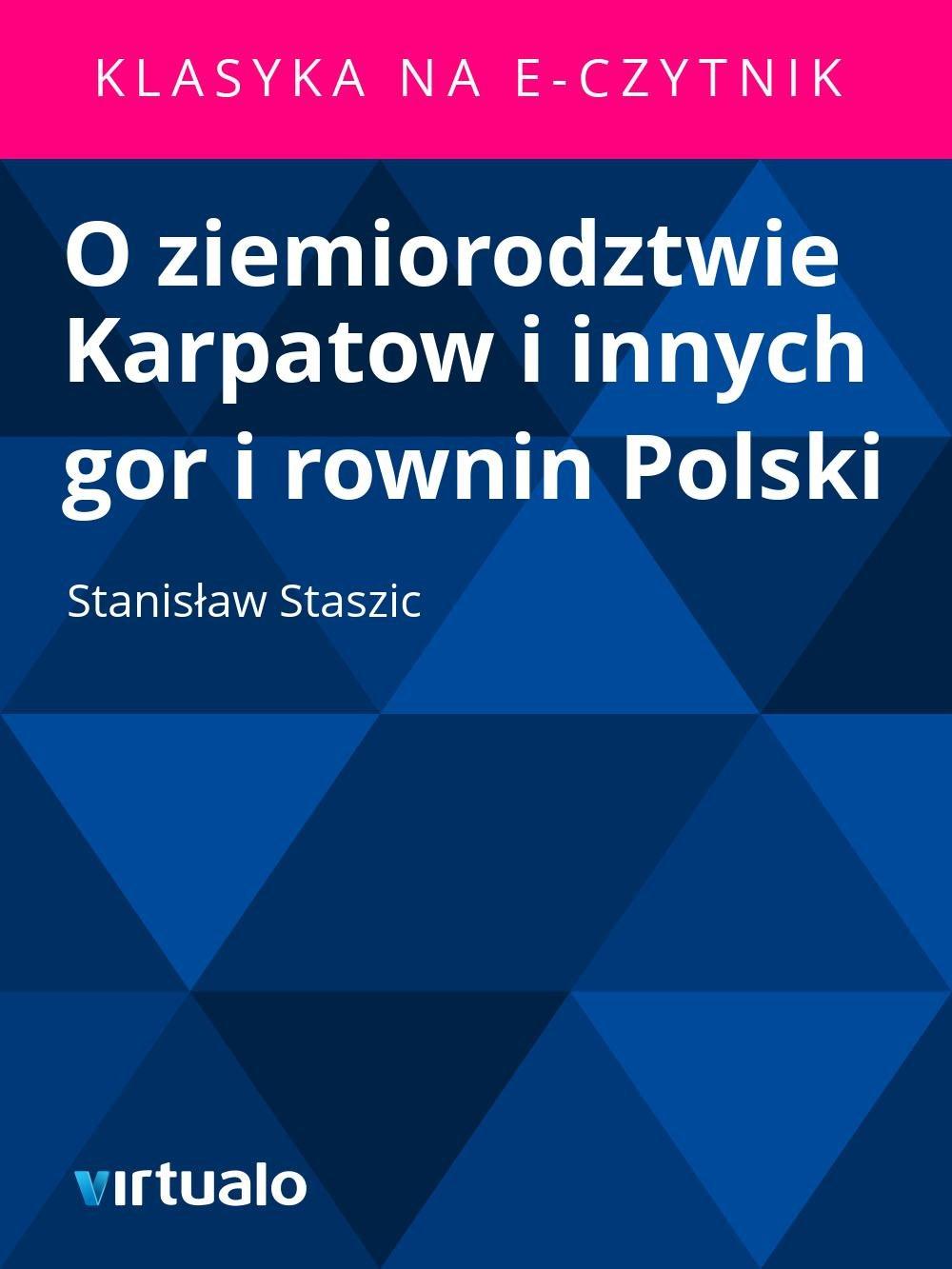 O ziemiorodztwie Karpatow i innych gor i rownin Polski - Ebook (Książka EPUB) do pobrania w formacie EPUB
