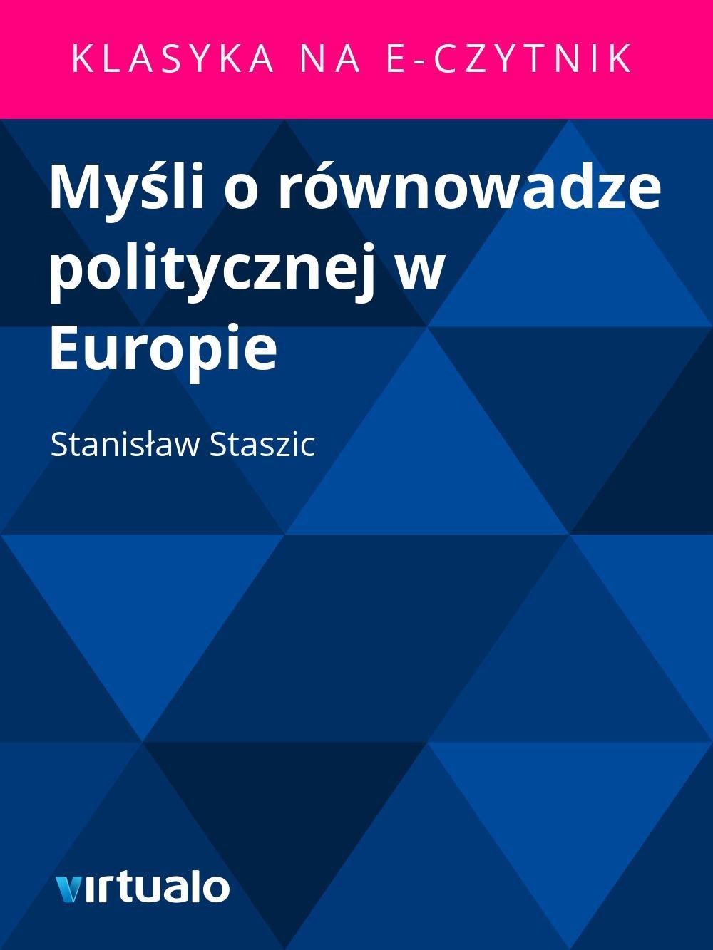 Myśli o równowadze politycznej w Europie - Ebook (Książka EPUB) do pobrania w formacie EPUB