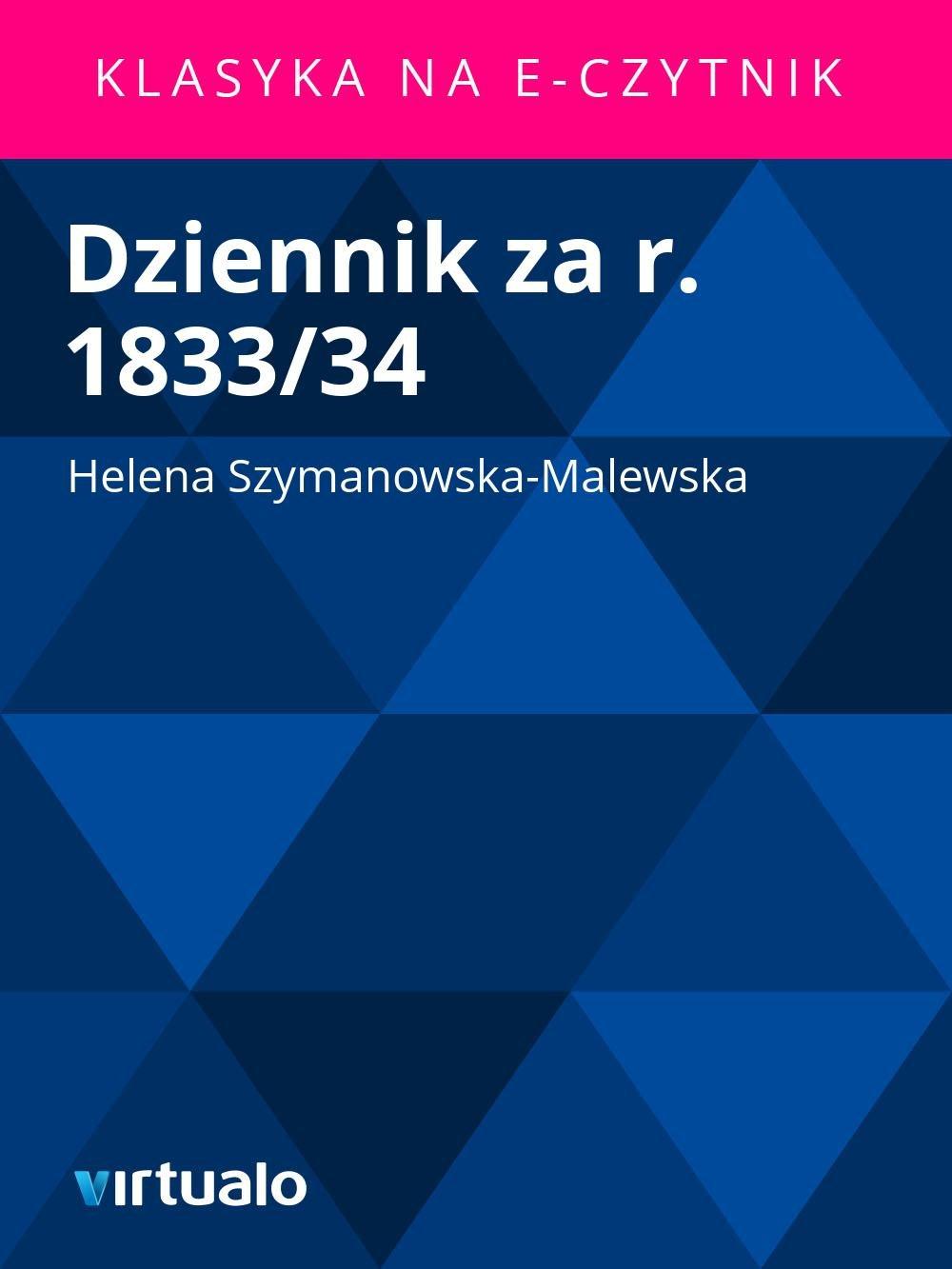 Dziennik za r. 1833/34 - Ebook (Książka EPUB) do pobrania w formacie EPUB