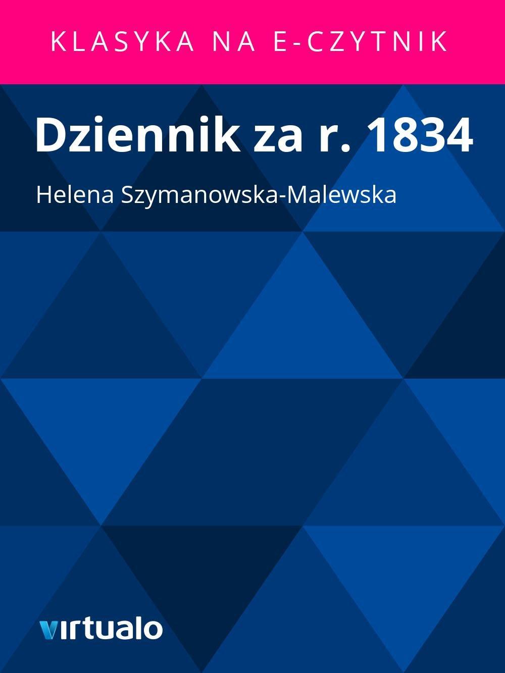 Dziennik za r. 1834 - Ebook (Książka EPUB) do pobrania w formacie EPUB