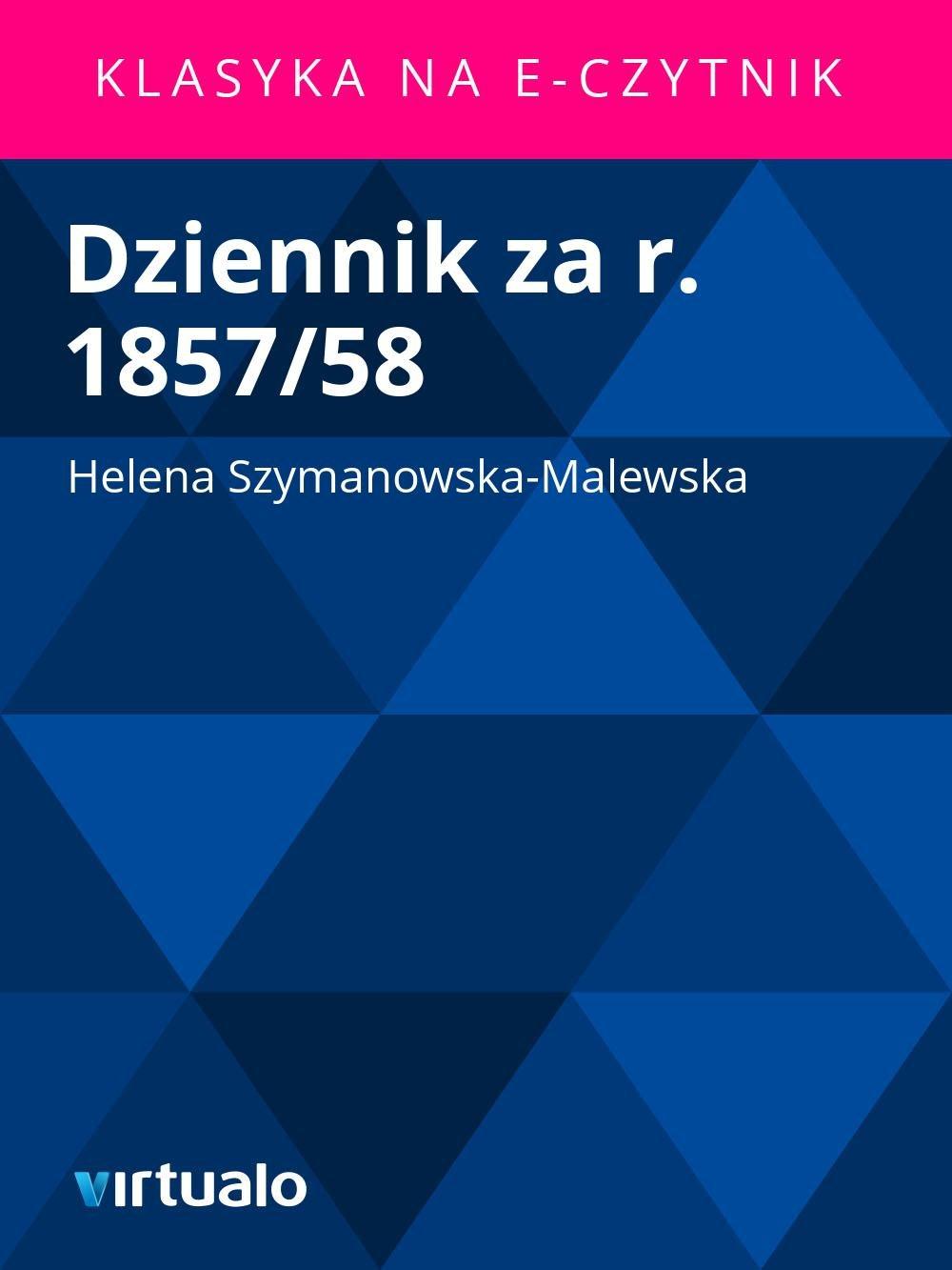 Dziennik za r. 1857/58 - Ebook (Książka EPUB) do pobrania w formacie EPUB