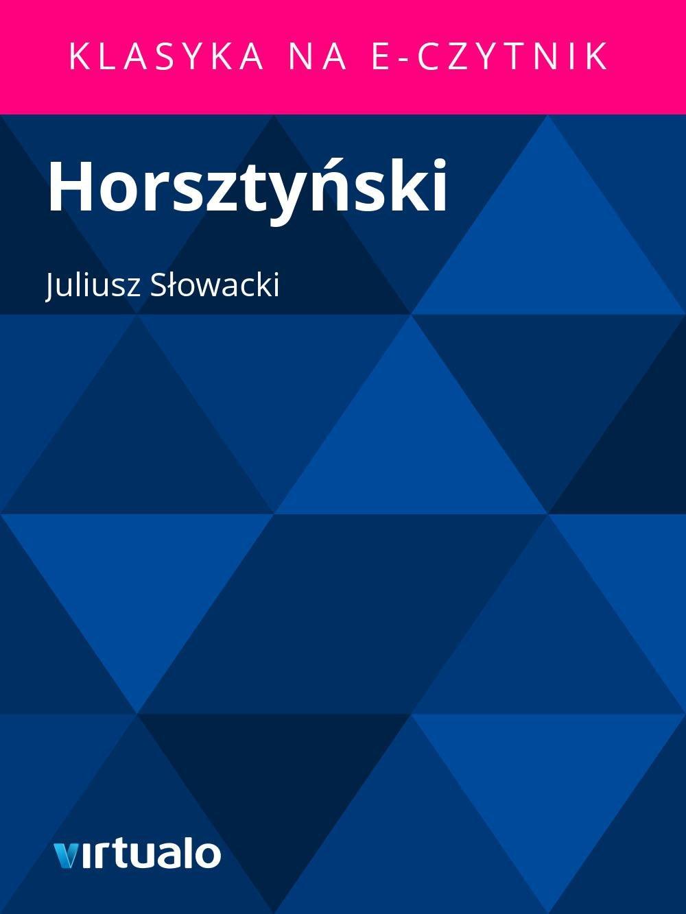 Horsztyński - Ebook (Książka EPUB) do pobrania w formacie EPUB