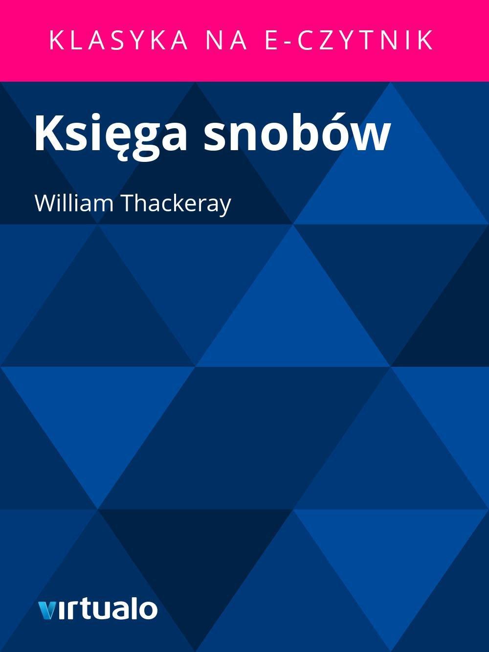 Księga snobów - Ebook (Książka EPUB) do pobrania w formacie EPUB
