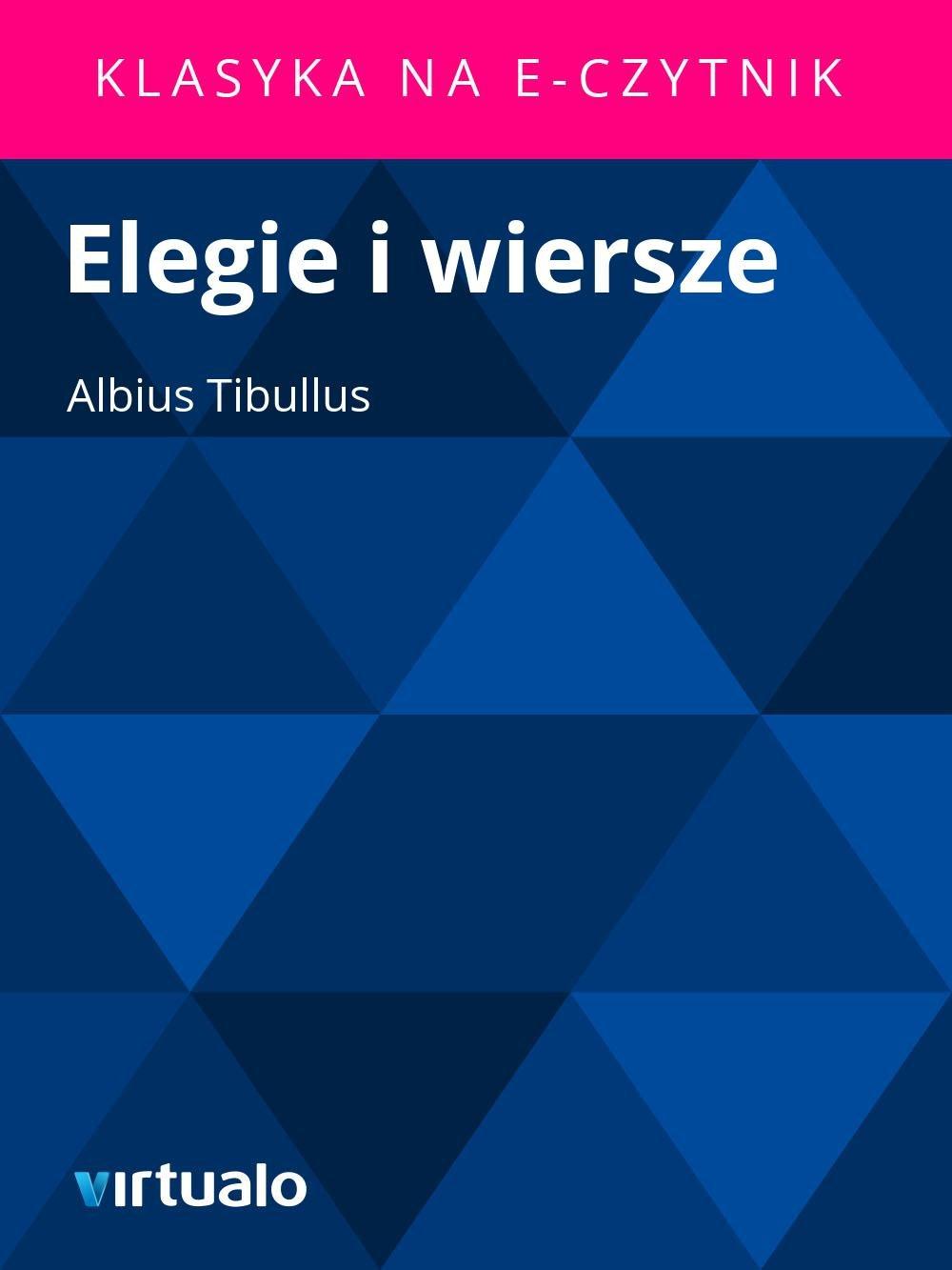Elegie i wiersze - Ebook (Książka EPUB) do pobrania w formacie EPUB