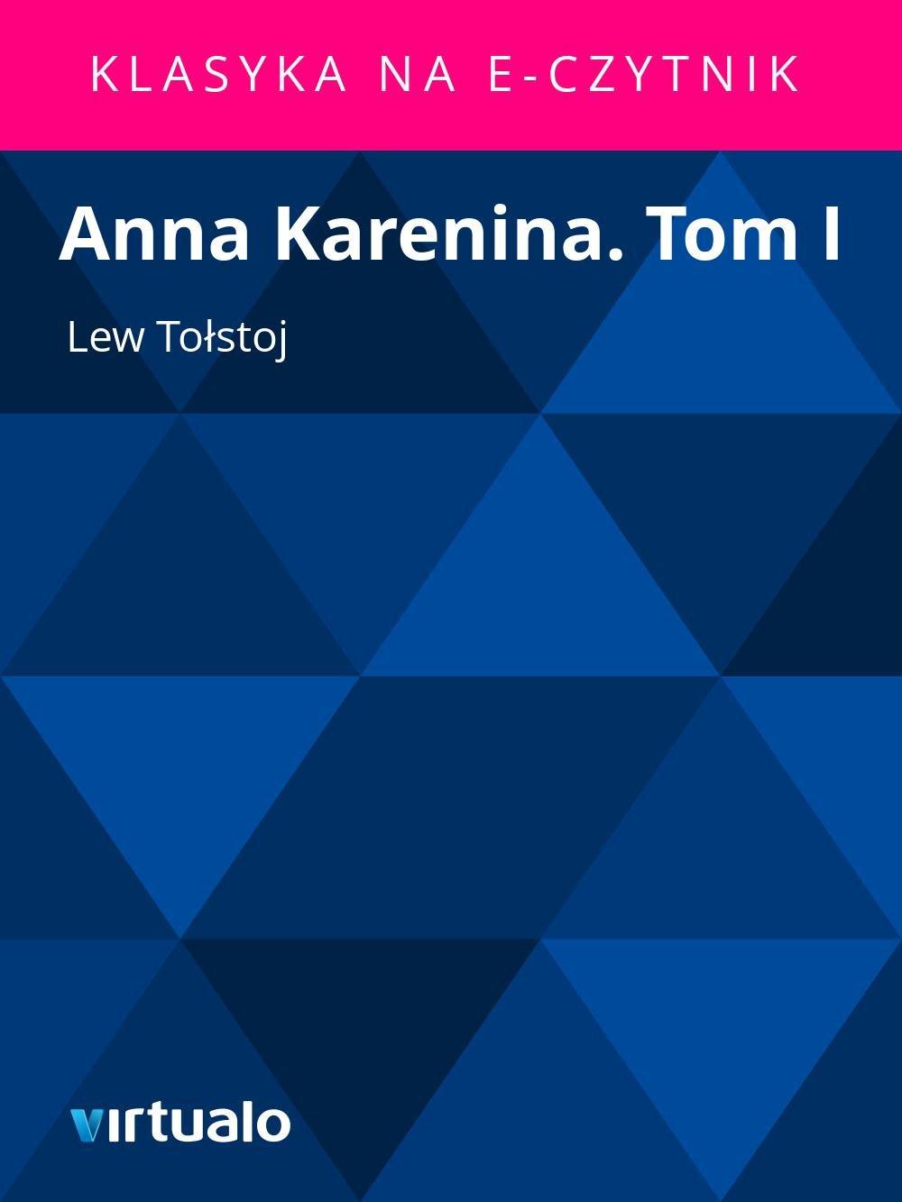 Anna Karenina. Tom I - Ebook (Książka EPUB) do pobrania w formacie EPUB