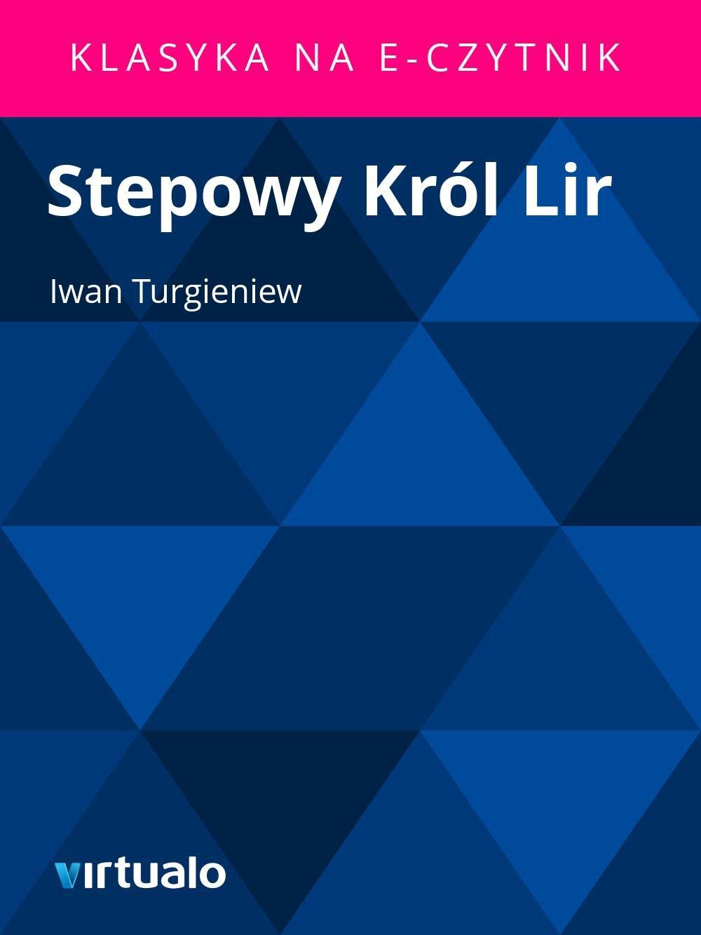 Stepowy Król Lir - Ebook (Książka EPUB) do pobrania w formacie EPUB