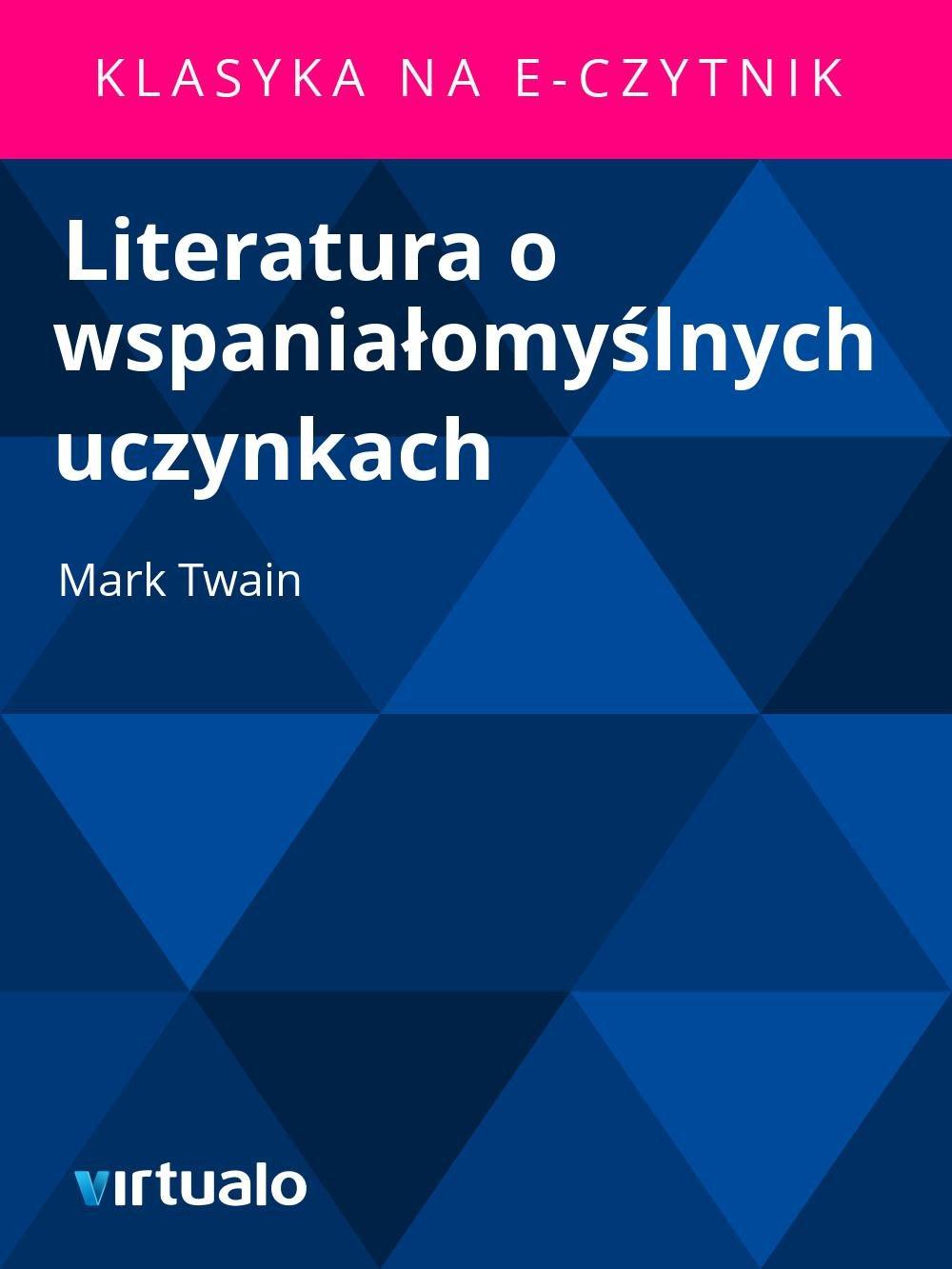 Literatura o wspaniałomyślnych uczynkach - Ebook (Książka EPUB) do pobrania w formacie EPUB