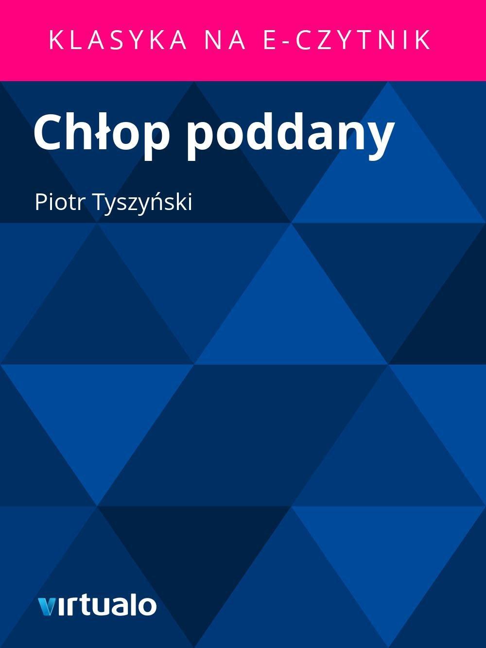 Chłop poddany - Ebook (Książka EPUB) do pobrania w formacie EPUB