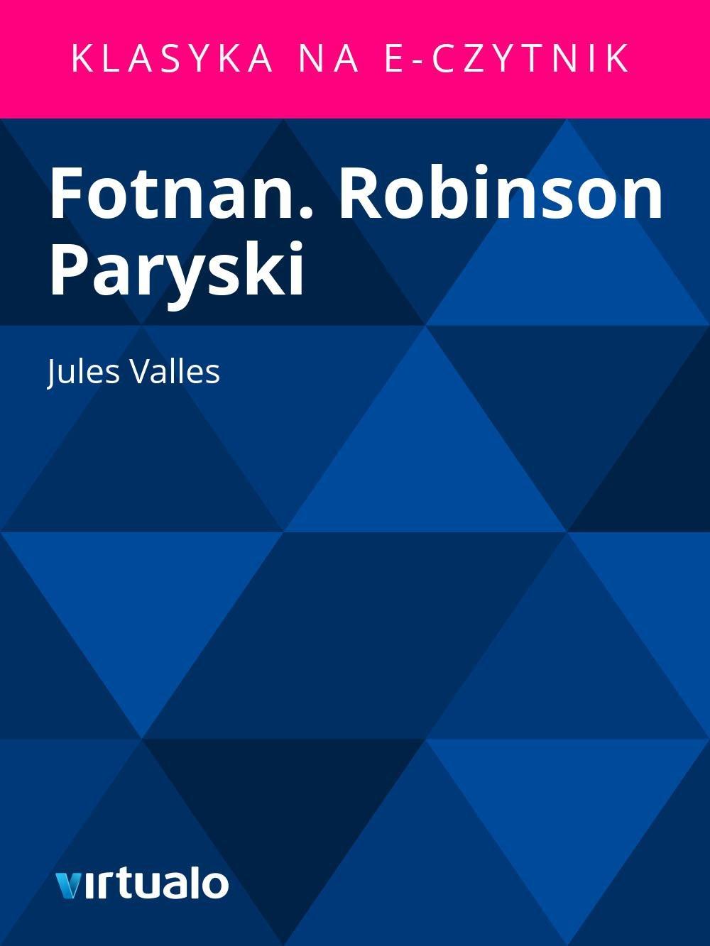 Fotnan. Robinson Paryski - Ebook (Książka EPUB) do pobrania w formacie EPUB