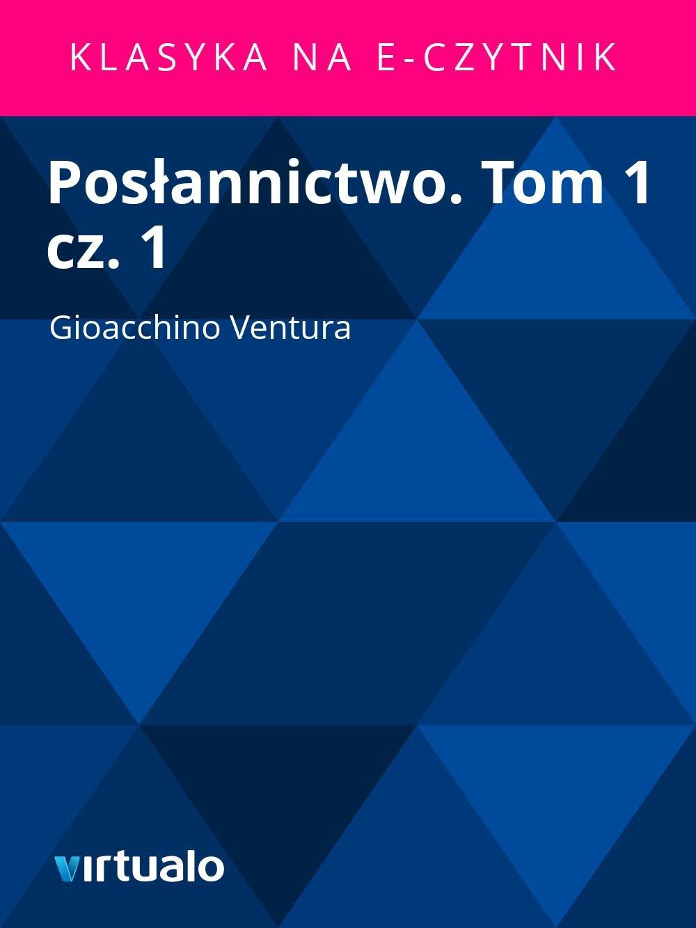 Posłannictwo. Tom 1 cz. 1 - Ebook (Książka EPUB) do pobrania w formacie EPUB