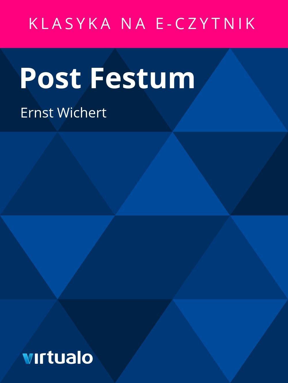 Post Festum - Ebook (Książka EPUB) do pobrania w formacie EPUB