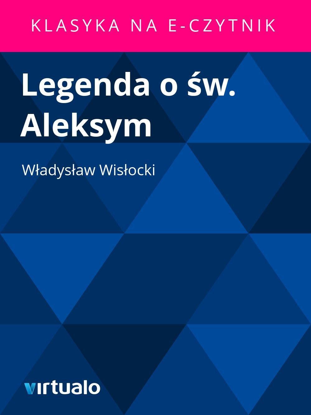 Legenda o św. Aleksym - Ebook (Książka EPUB) do pobrania w formacie EPUB
