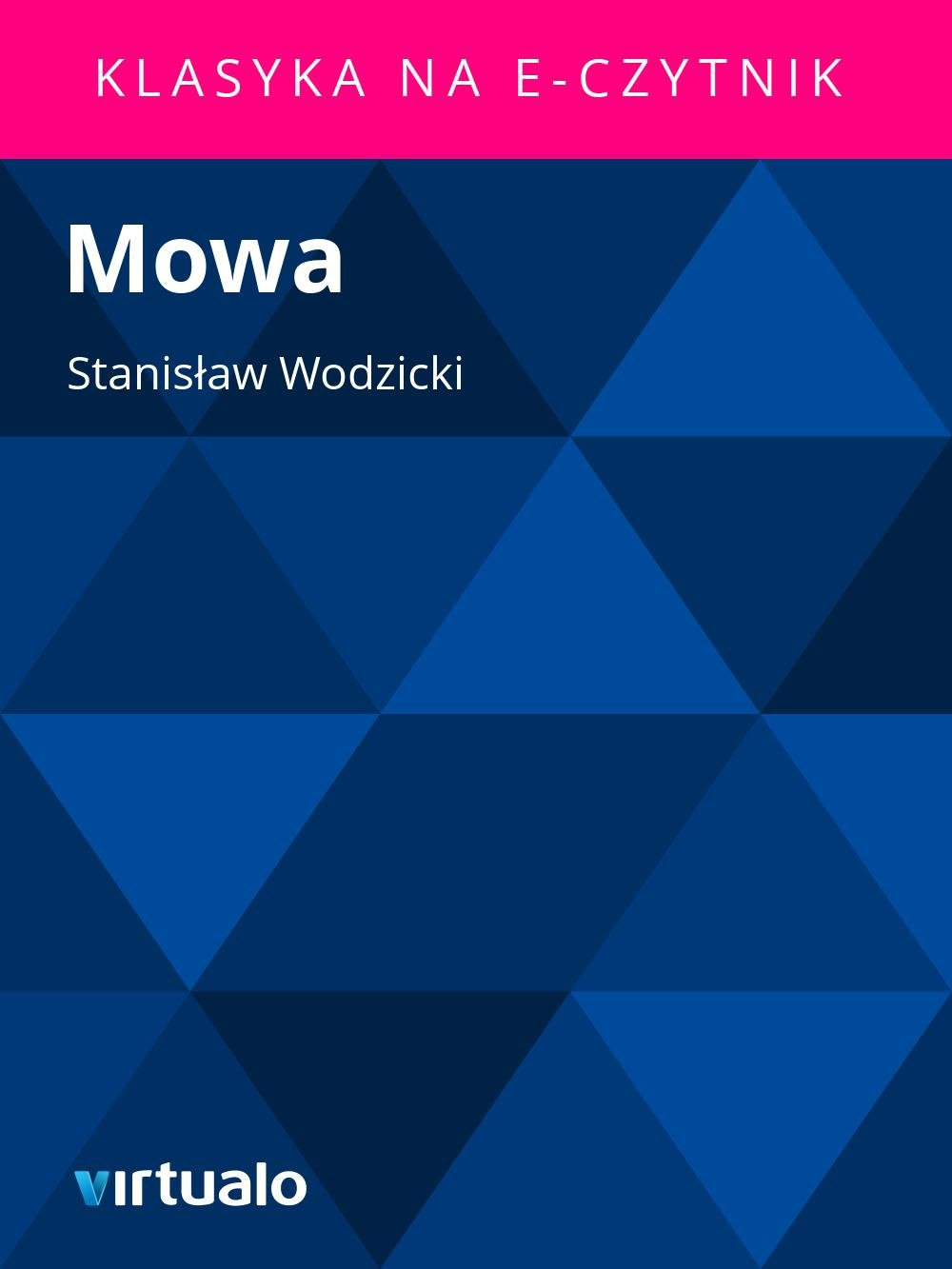 Mowa - Ebook (Książka EPUB) do pobrania w formacie EPUB